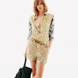 letni kombinezon H&M w kolorze beżowym - wiosna i lato 2013
