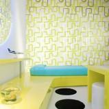 Limonkowa tapeta ciekawe wzorki Omexo