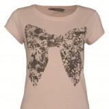łososiowa koszulka Top Secret z kokardą - z kolekcji jesień-zima