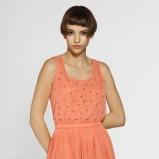 łososiowa spódnica Answear plisowana - moda wiosna/lato