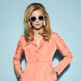 łososiowa sukienka Sesst - trendy 2012