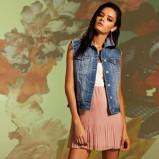 łososiowa sukienka Stradivarius plisowana - z kolekcji wiosna-lato 2012