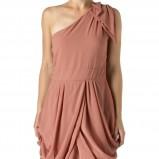 łososiowa sukienka wieczorowa New Look - zima 2011/2012