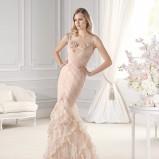 łososiowa suknia ślubna La Sposa