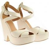 łososiowe sandały Simple na platformie - wiosna/lato 2012