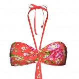 łososiowy strój kąpielowy New Yorker w kwiaty - trendy wiosna-lato