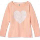 łososiowy sweterek House z sercem - kolekcja na jesień 2013