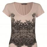 łososiowy t-shirt Top Secret z aplikacją - moda 2011/2012