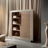 Luksusowe masywna komoda w kolorze jasnego brązu aranżacja biura z Patt Mebel