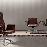 Luksusowe pikowany skórzany fotel - inspiracje 2013