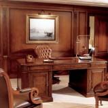 Luksusowe rzeźbione biurko w kolorze brązu - inspiracje 2013
