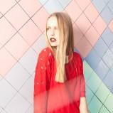 luźna bluzeczka Bershka w kolorze czerwonym - lato 2013