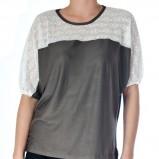 luźna bluzeczka Grey Wolf w kolorze szarym - kolekcja damska