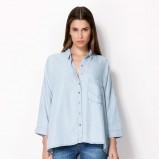 luźna koszula Bershka w kolorze błękitnym - moda na lato 2013