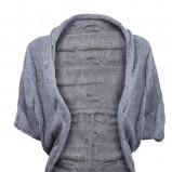 luźna narzutka Gatta w kolorze szarym  - modne sweterki