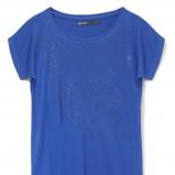 luźna z krótkam rękawem bluzeczka House w kolorze niebieskim - moda sylwestrowa 2012