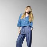 luźne spodnie Benetton w kolorze granatowym - moda dla kobiet 2013