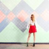 luźne szorty Bershka w kolorze czerwonym - lato 2013
