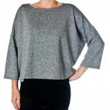 luźny sweter Grey Wolf w kolorze popielatym - moda damska