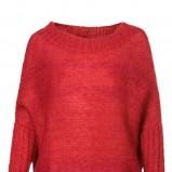 luźny sweter Solar w kolorze czerwonym - swetry na jesień i zimę 2012/13