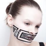 Makijaż na Halloween - sznurowane usta