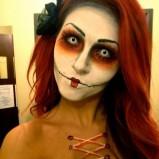 Makijaż na Halloween - zombie