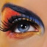 Makijaż wieczorowy oczu - karnawał - zdjęcie