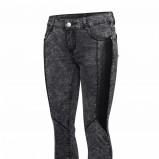 Marmurkowe spodnie z eko-skórą, 149.90 zł