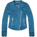 marynarka - kurteczka na zamek Reserved w kolorze niebieskim - ubrania damskie na jesień i zimę