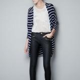 marynarski kardigan ZARA w paski   - ubrania dla kobiet na jesień i zimę