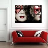Maski obraz 3D salon/sypialnia Widi