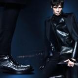 męski płaszcz Gucci w kolorze czarnym - zima 2013/14