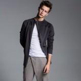 męskie spodnie w kolorze szarym - Łukasz Jemioł