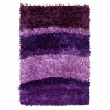 Miękki dywan w kolorze liliowym w paski do salon lub gabinetu od Black Red White  -nowości 2013