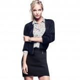 mini spódniczka H&M w kolorze czarnym - moda na wiosnę 2013