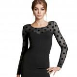 mini sukienka H&M w kolorze czarnym - sukienki na studniówkę