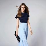 Minimalistyczna bluzka i spódnica maksi