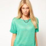 modna bluzeczka Asos w kolorze zielonym - kolekcja na jesień i zimę