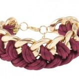 modna bransoletka Parfois w kolorze bordowym - dodatki w stylu barokowym