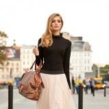modna klasyczna ecru spódnica Anataka - jesień 2012