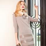 modna klasyczna szara sukienka Anataka - jesień 2012