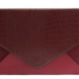 modna kopertówka Parfois w kolorze bordowym - dodatki w stylu barokowym