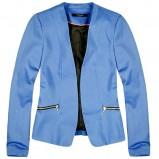 modna marynarka Reserved z zameczkami w kolorze niebieskim - jesień i zima 2012/13