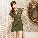 modna sukienka New Yorker w kolorze khaki - lato 2013