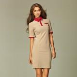 modna sukienka Nife w kolorze beżowym  - moda damska 2012/13