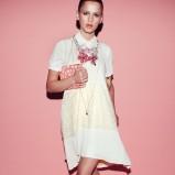 modna sukienka Patrizia Pepe w kolorze ecru - trendy na lato 2013