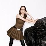 modna sukienka Simple w kolorze khaki - moda na jesień 2013