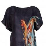 modna sukienka Solar ze wzorem w kolorze grafitowym - sukienki 2013