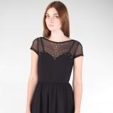 modna sukienka Stradivarius w kolorze czarnym - sukienki 2012/13