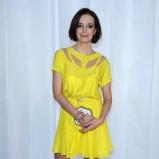 modna sukienka w kolorze żółtym - Anna Wendzikowska